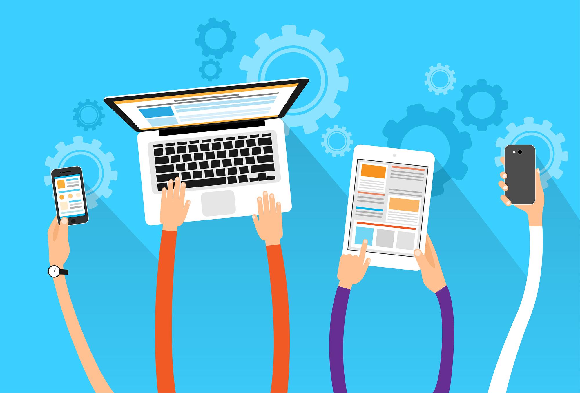 Tablet, Laptop, Mobile Phone, Digital Marketing