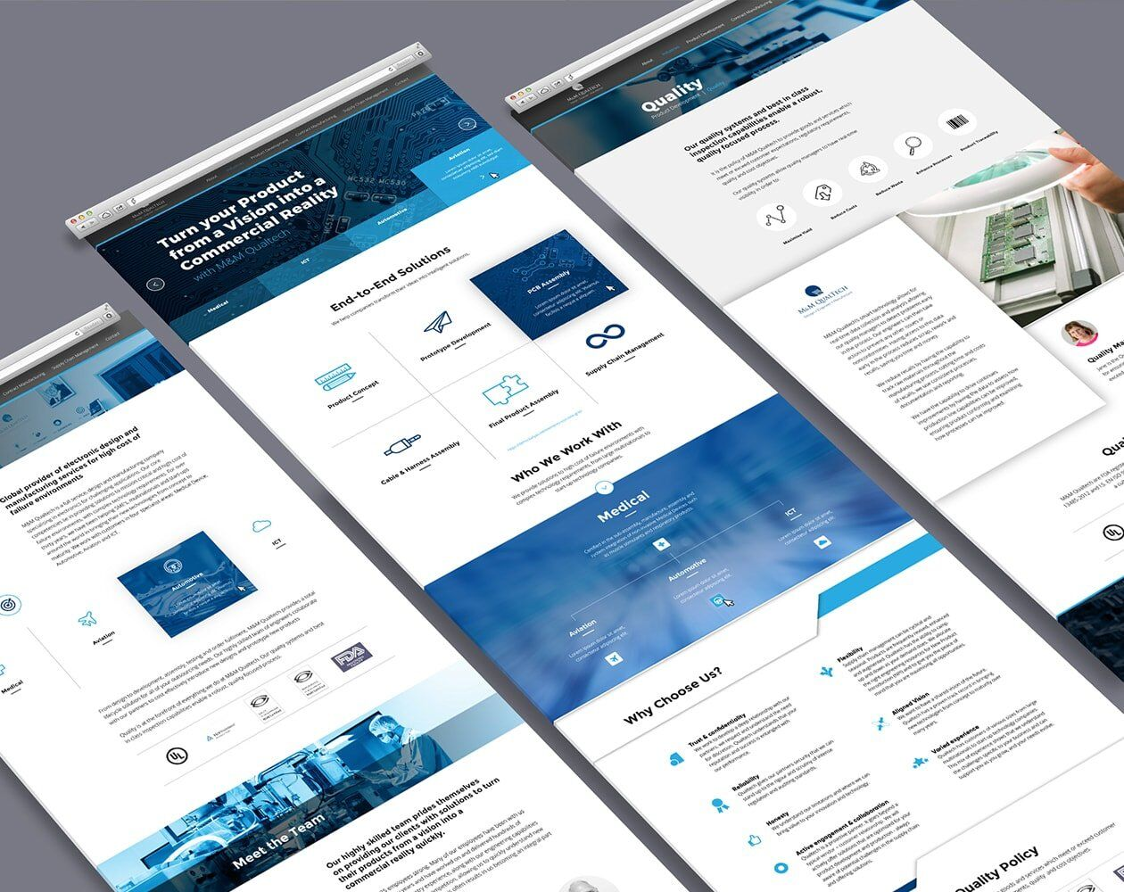 m&m qualtech website design concepts