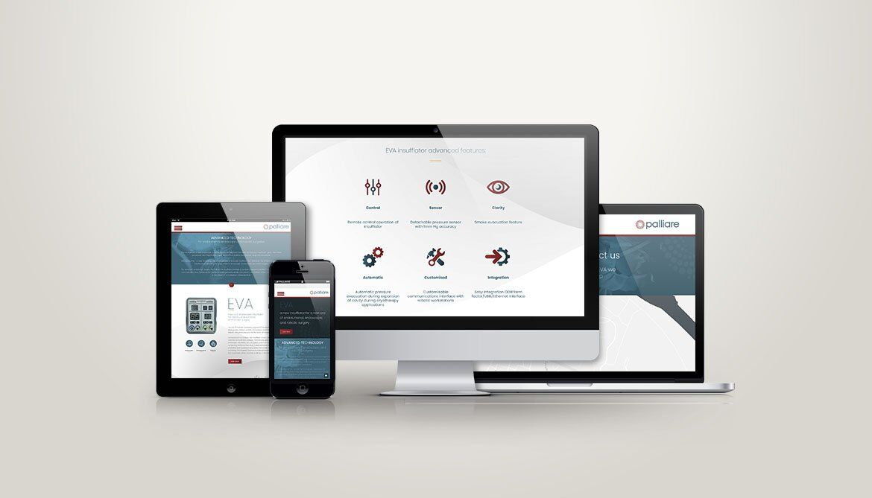 Palliare responsive website
