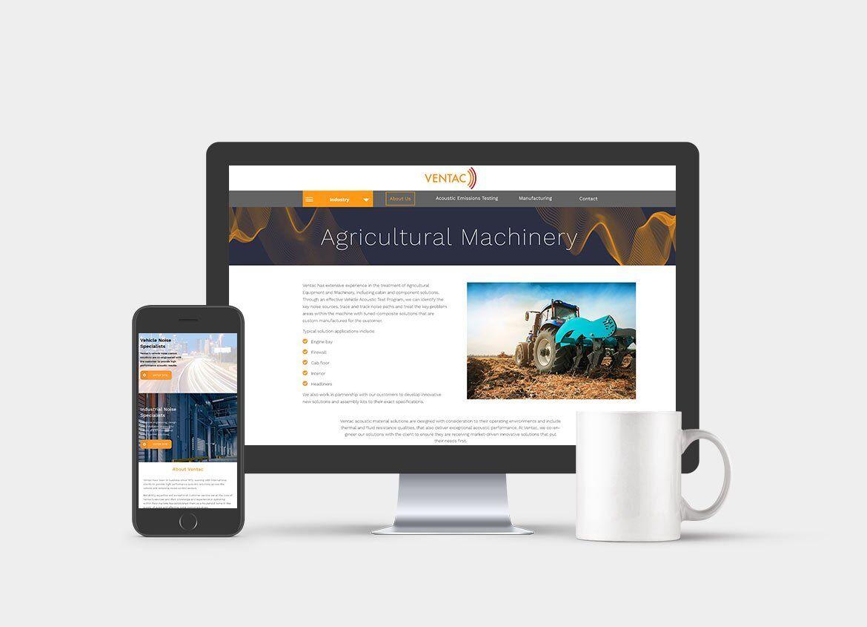 Ventac responsive website