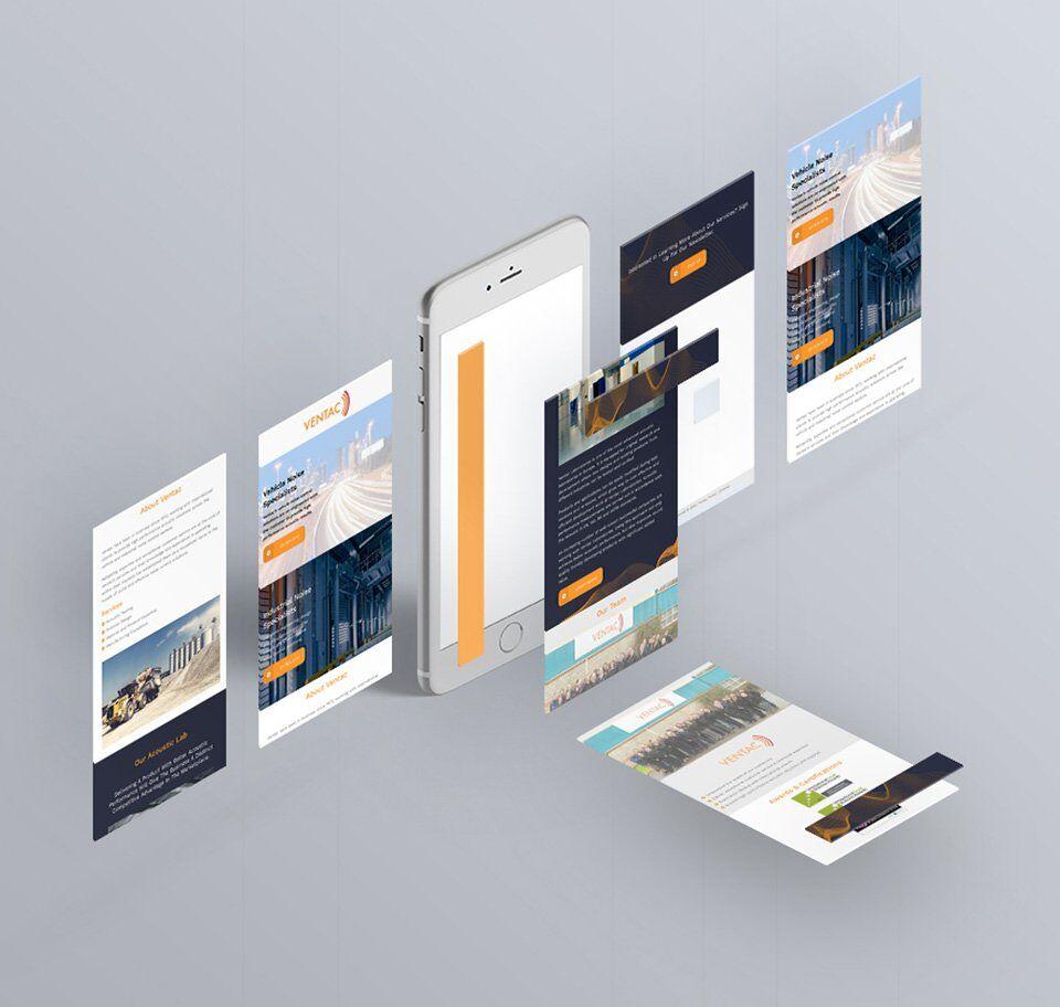Ventac website pages