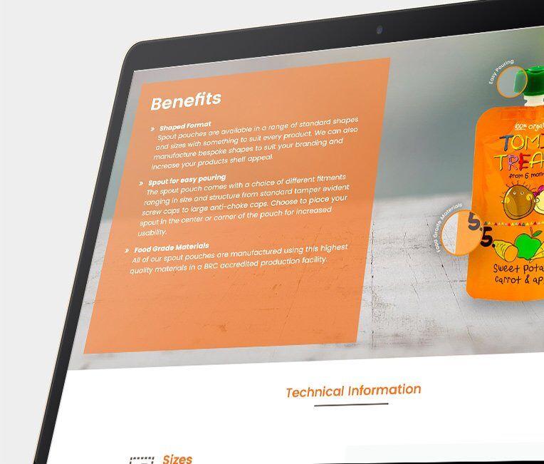 Foxpak web design by IMS