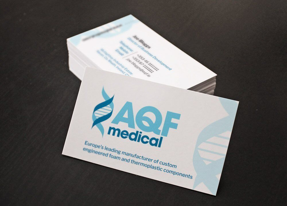 Business cards for AQF Medical