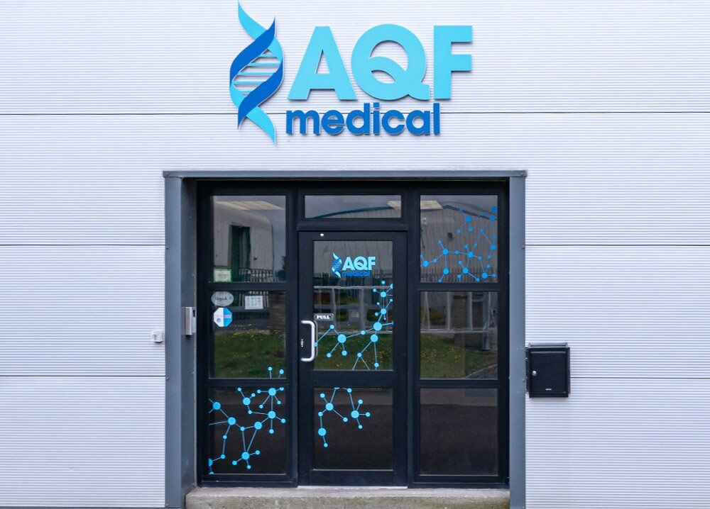 Exterior office branding for AQF Medical