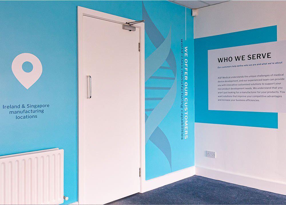 Internal wall branding for AQF medical