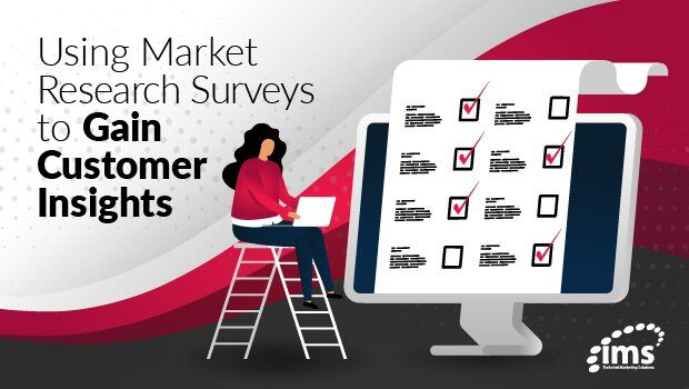 using market research surveys to gain customer insights graphic