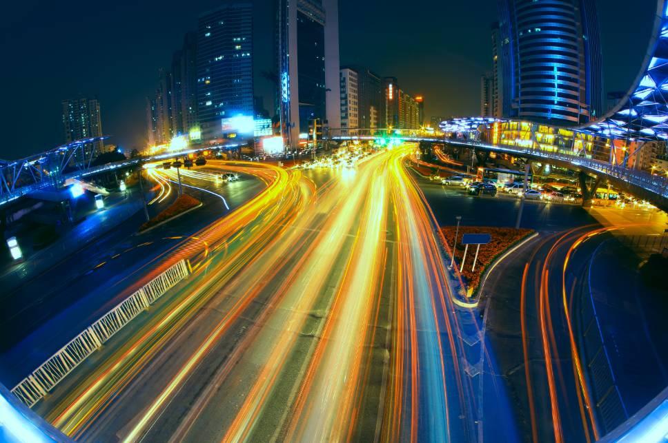 Busy city traffic