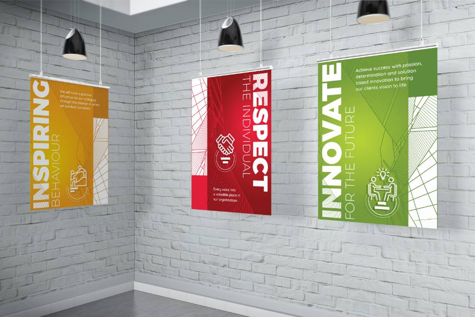 Employer branding hanging wall posters