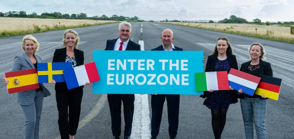 Picture of IMS team at the official launch of Enter The Eurozone programme