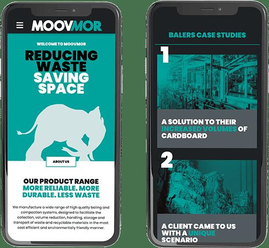 Moovmor website mobile layout