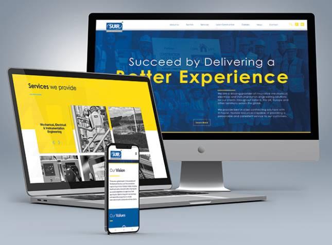 Suir Engineering web design mockups