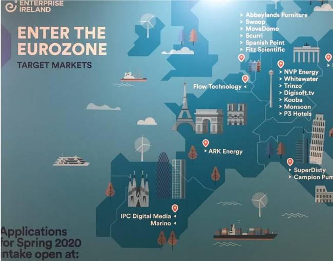 Map of Enter the eurozone target market