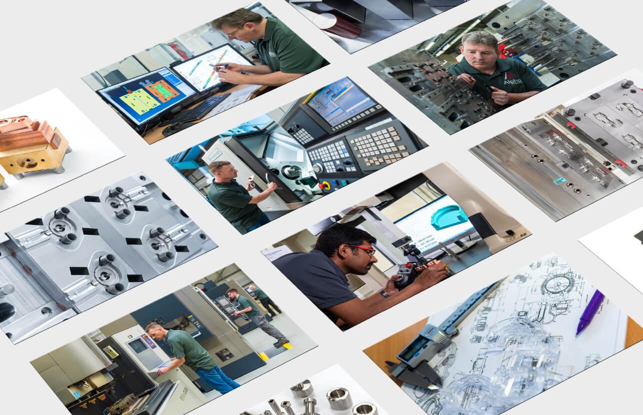 Alpha precision corporate video elements