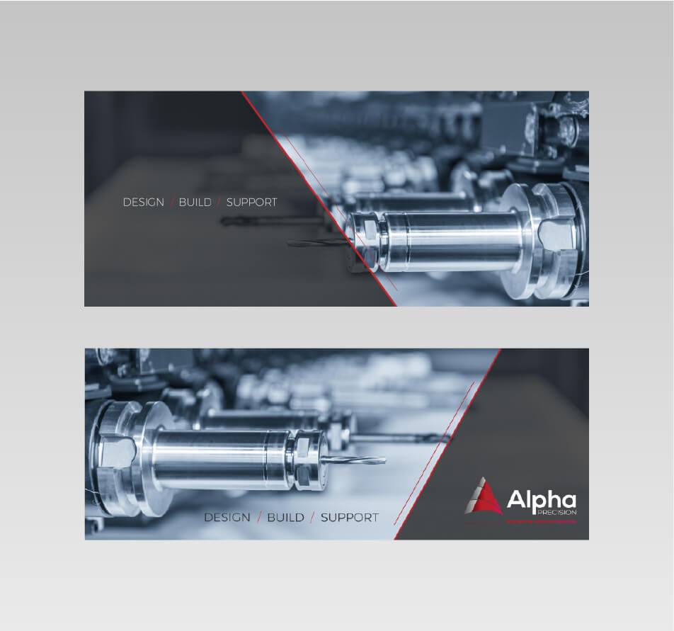 Alpha precision design mockups