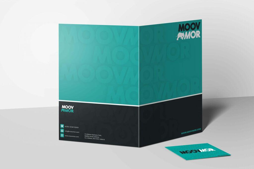 A4 folder design mockup for Moovmor