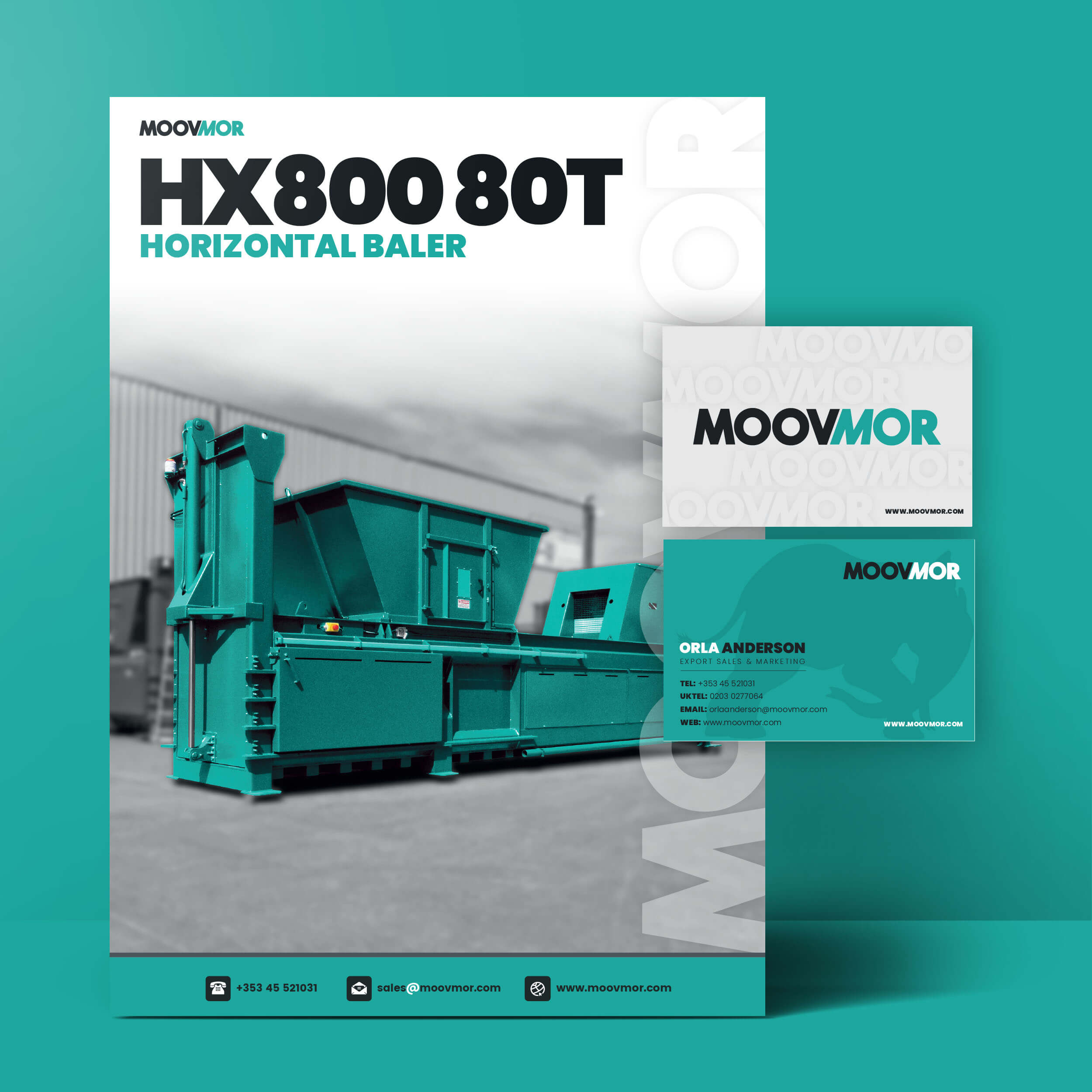 Brochure and Business card mockups for Moovmor