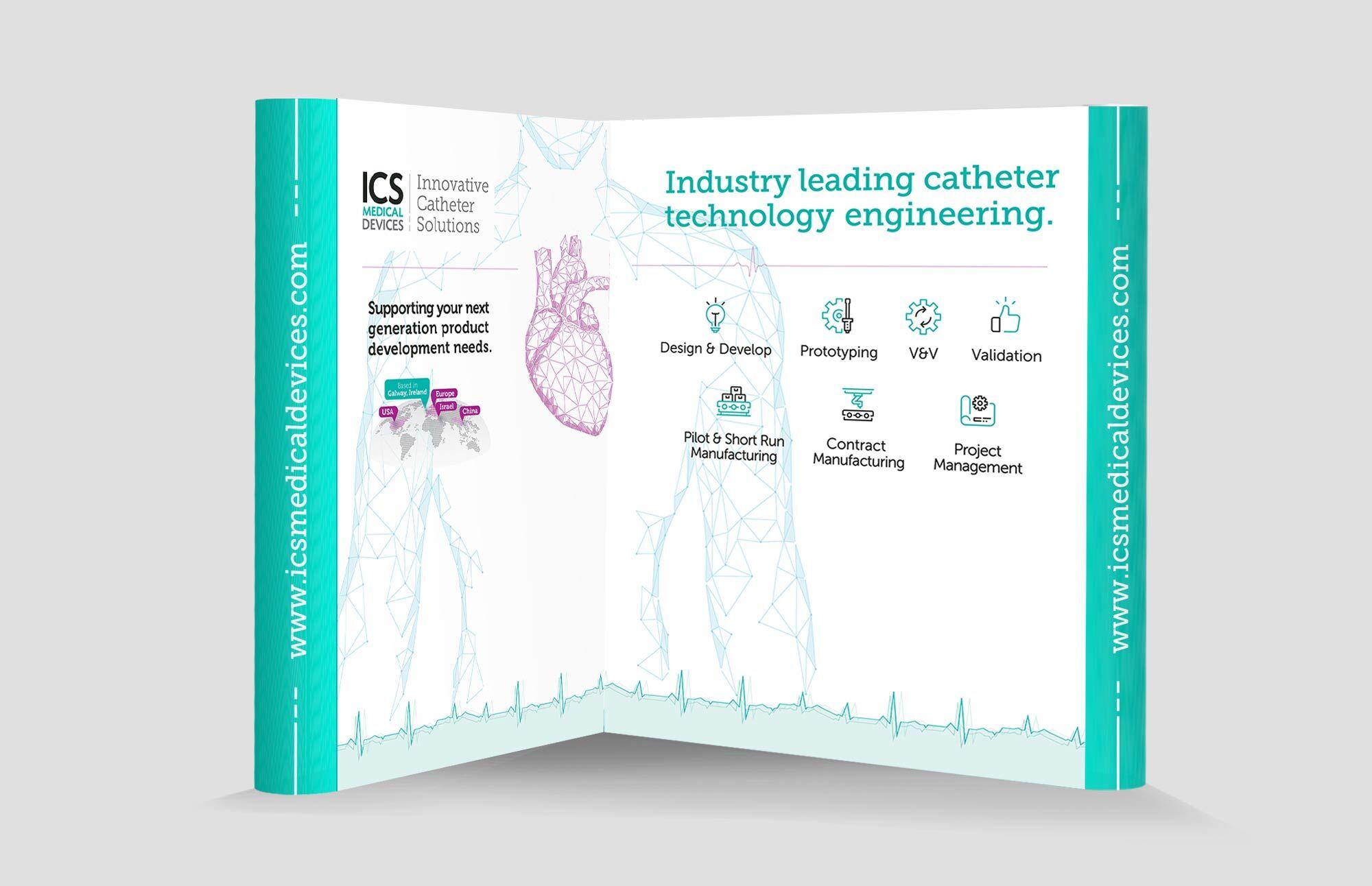Tradesstand design mockup for ICS Medical