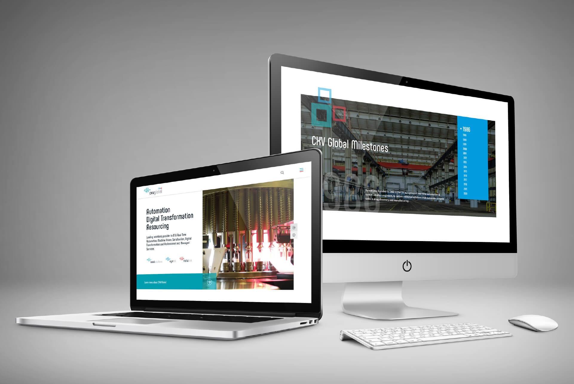 Website design Mockups for CXV Global