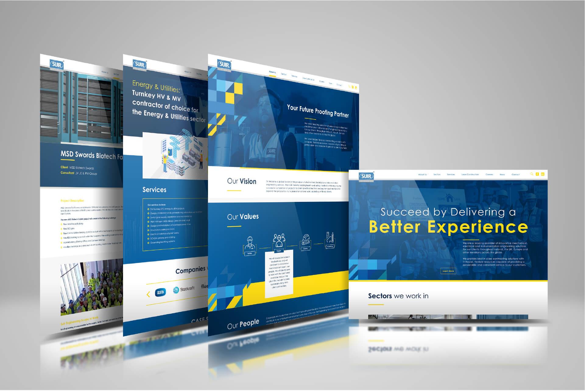 Website Mockups for Suir Engineering