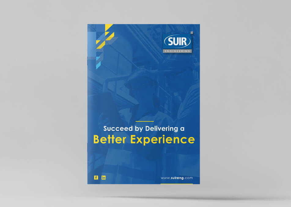 Brochure design mockup for Suir Engineering