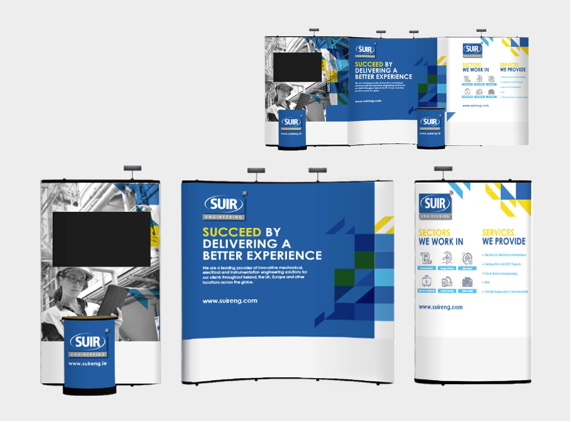 Trade show design mockups for Suir Engineering