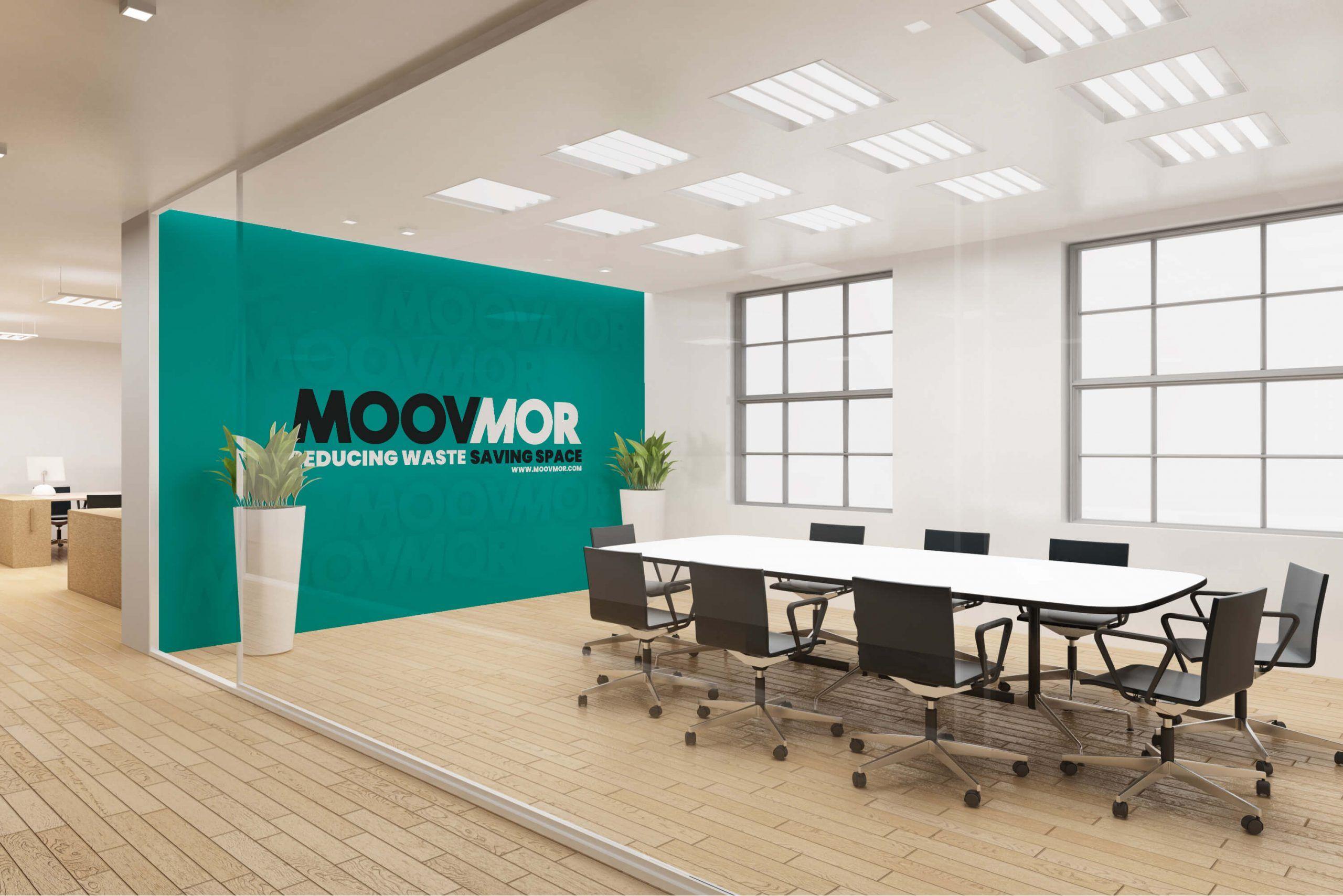 Interior branding mockup for Moovmor