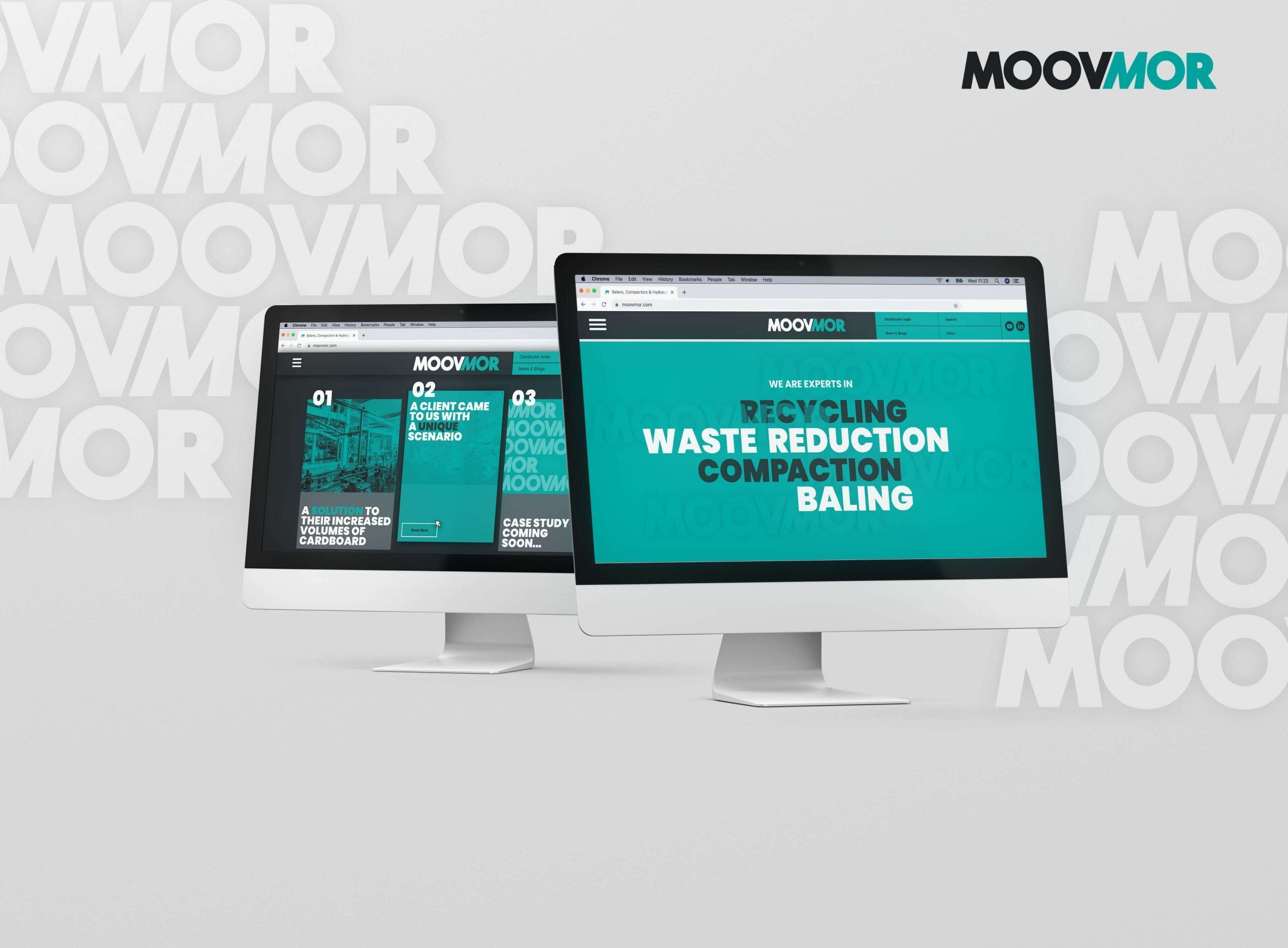 Website design mockups for Moovmor
