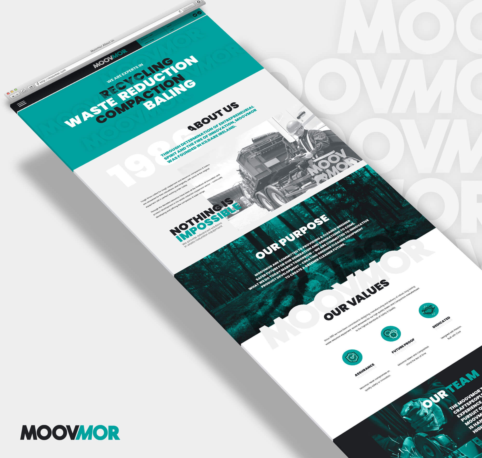 Website desgin mockup for Moovmor