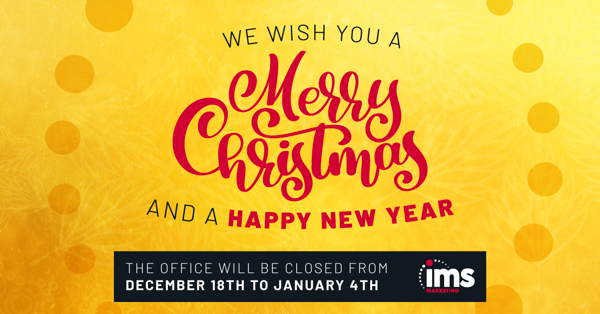 IMS Christmas Shutdown Graphic