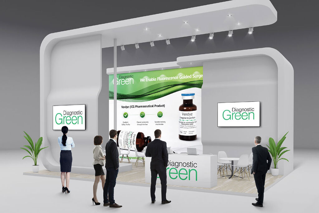 Tradeshow booth mockup for Diagnostic Green