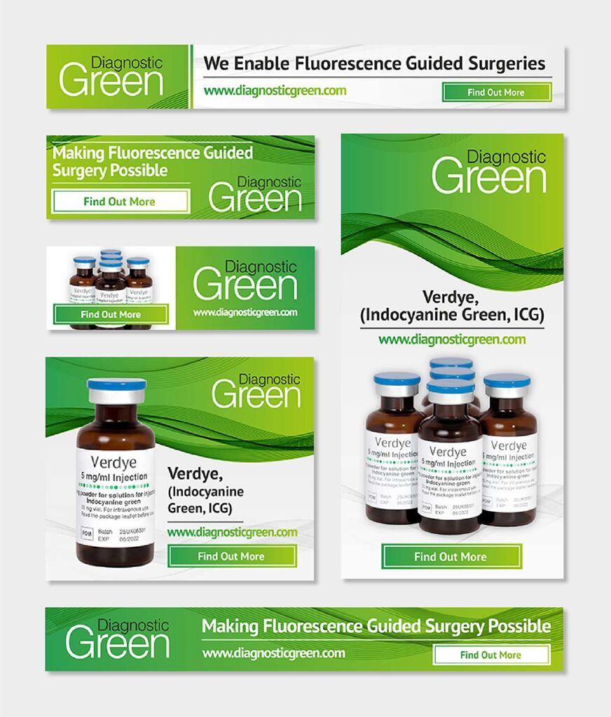 Mockups of digital design for Diagnostic Green