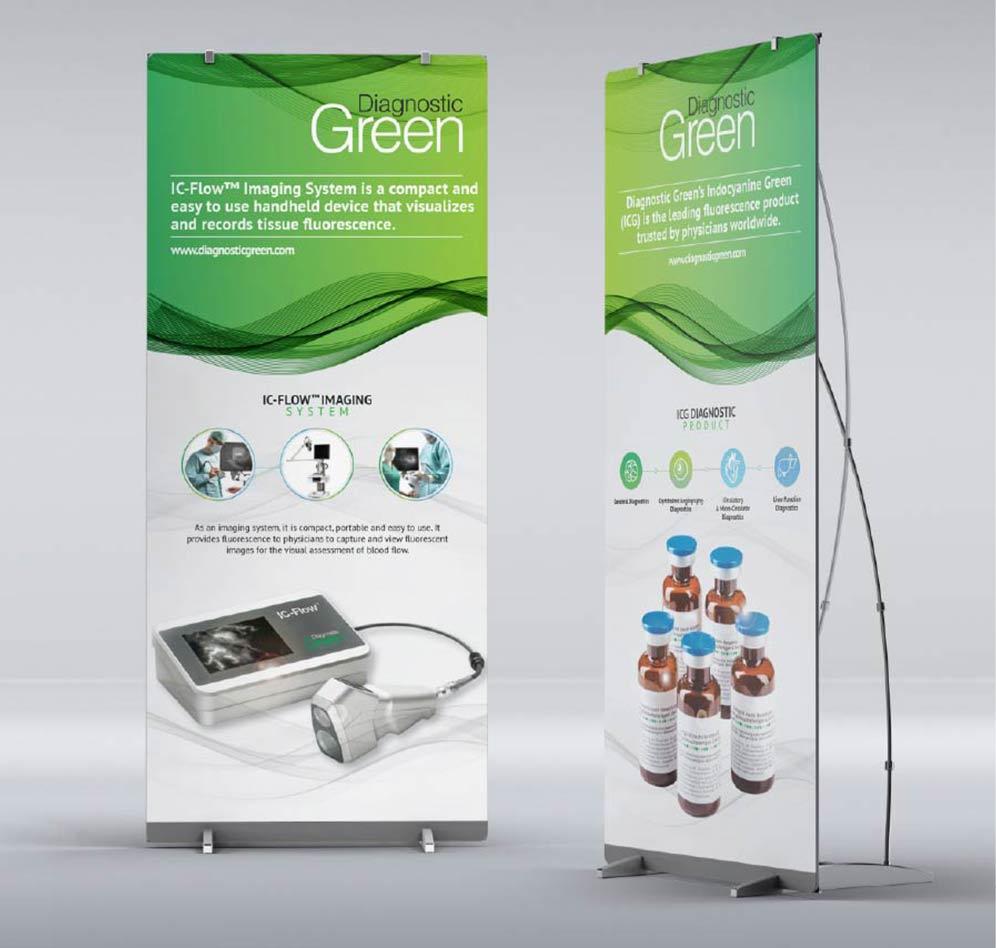 Popup banner mockups for Diagnostic Green