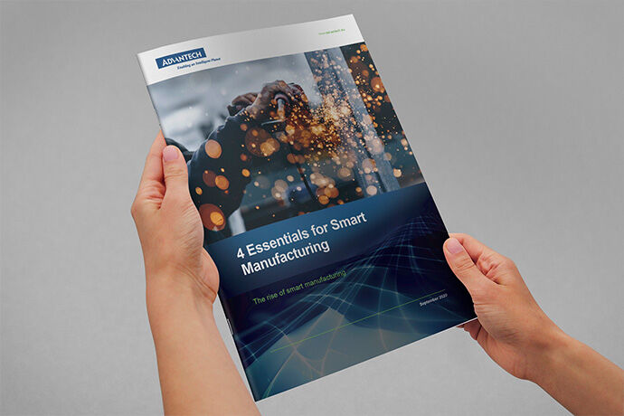Brochure mockup for Advantech