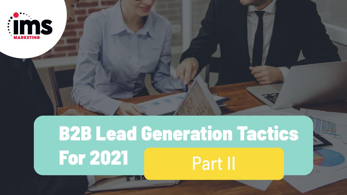 b2b lead generation 2021